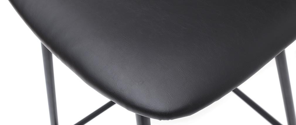 2er-Set Vintage-Barhocker Schwarz mit Beinen aus Metall 65 cm LAB