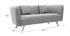 3-Sitzer-Design-Sofa MOONLIGHT aus hellgrauem Stoff