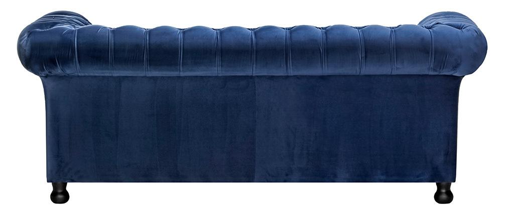 3-Sitzer-Sofa CHESTERFIELD Dunkelblau