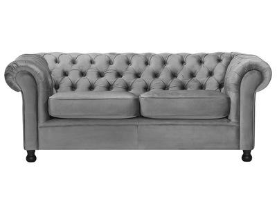 3-Sitzer-Sofa CHESTERFIELD Dunkelgrau