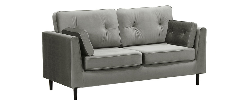 3-Sitzer-Sofa Velours Grau William