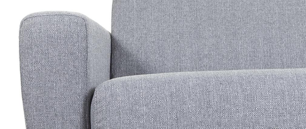 3-Sitzer-Sofabett mit verstellbaren Kopfstützen in grau GOYA