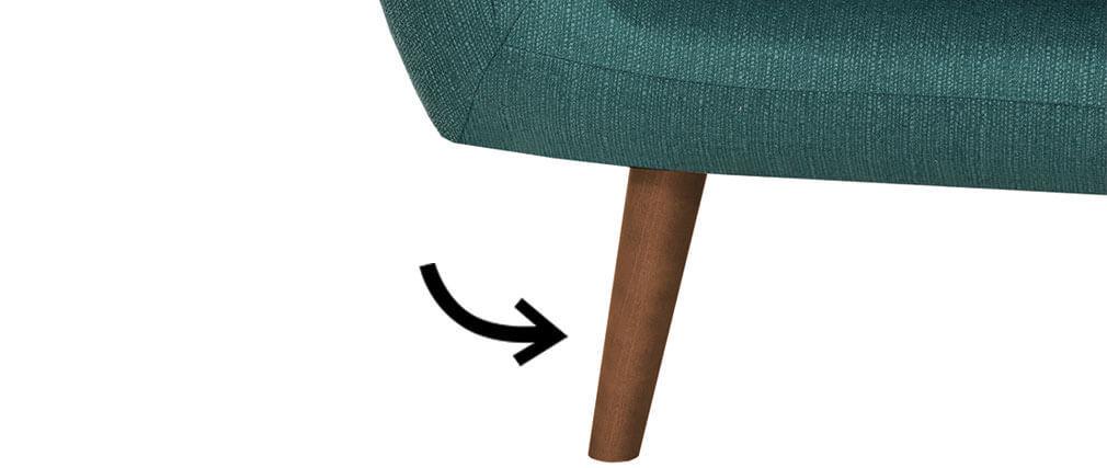 4er-Set Möbelfüße Nussbaum-Oberfläche OLAF