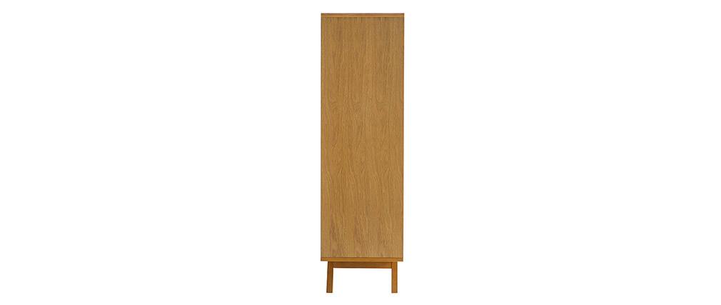 Anrichte HELIA Holz Natur und Weiß 4 Türen