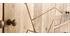 Anrichte mit Kerbung aus Mangoholz und goldfarbenem Metall LINUM
