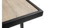 Außenstehtisch aus Metall und Glas mit Holzmuster QUITO