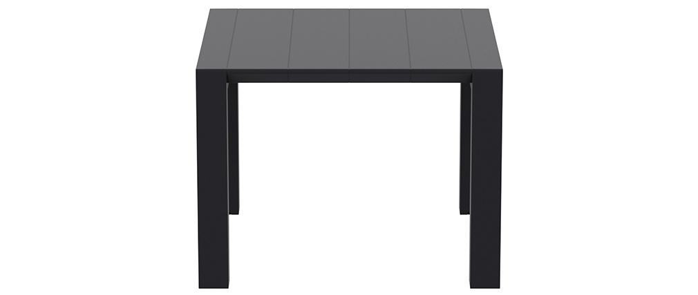 Ausziehbarer Außentisch schwarz L100-140 cm PRIMAVERA