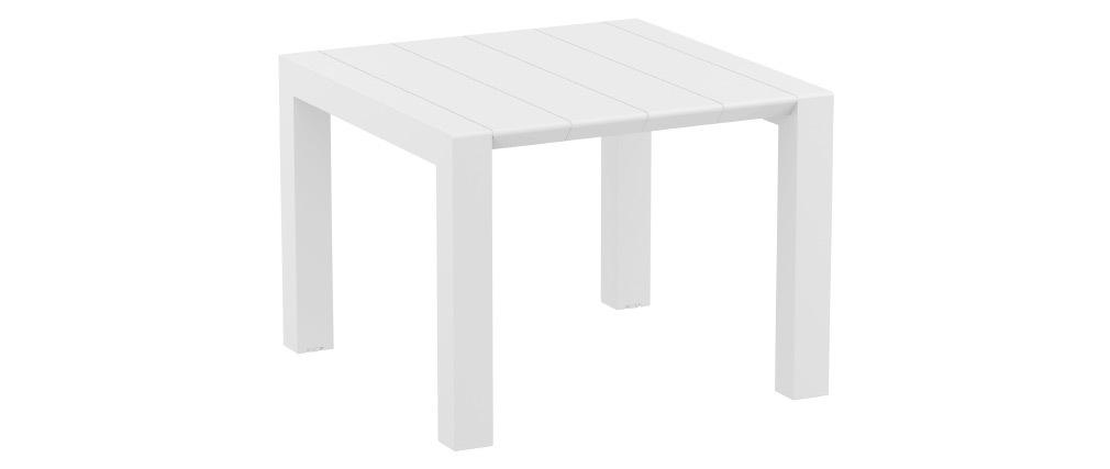 Ausziehbarer Außentisch weiß L100-140 cm PRIMAVERA