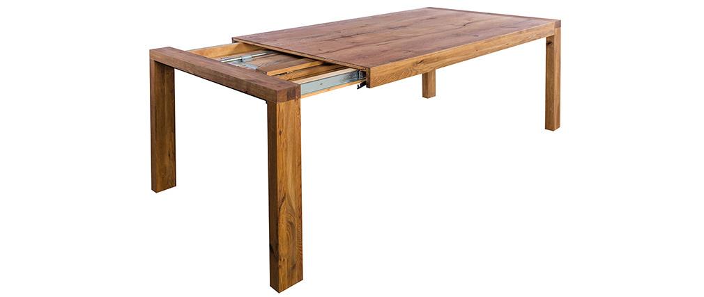 Ausziehbarer Esstisch aus massiver Eiche L180-230 cm RAW