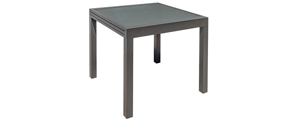 Ausziehbarer Gartentisch anthrazitgrau L90-180 cm PORTOFINO