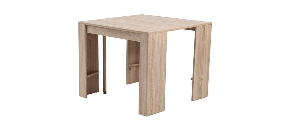 Ausziehbarer Konsolen-Tisch Eichenholz CALEB
