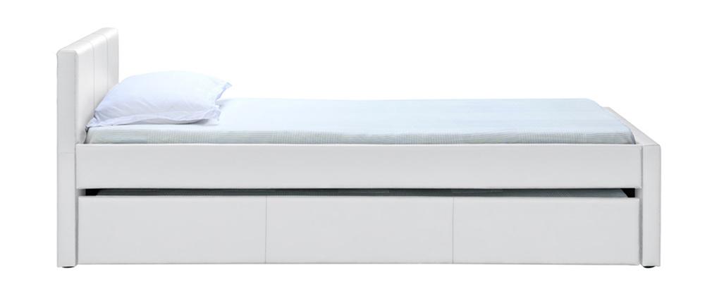Ausziehbett 90 x 190 cm Weiß MACCO