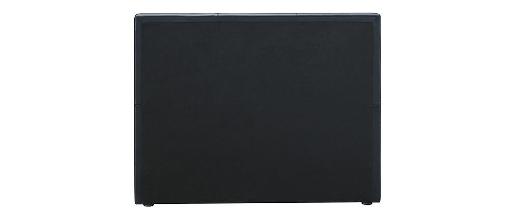 Ausziehbett 90 x 195 cm Schwarz Matt MACCO