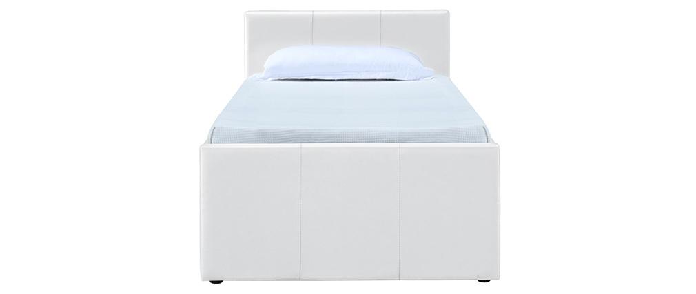Ausziehbett 90 x 195 cm Weiß MACCO