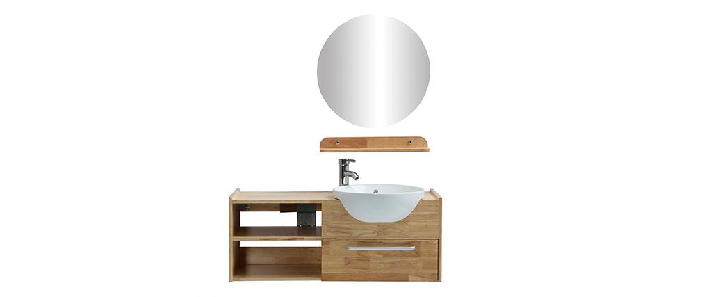 Badezimmermöbel: Waschbecken mit Waschkommode, Regal und Spiegel EYTAN