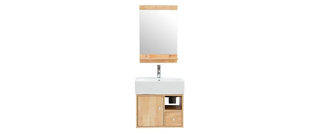 Badezimmermöbel: Waschbecken mit Waschkommode und Spiegel EVAN