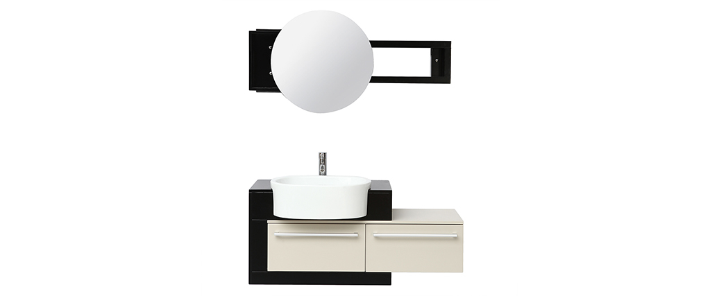 Badezimmermöbel: Waschbecken mit Waschkommode und Spiegel MARLO