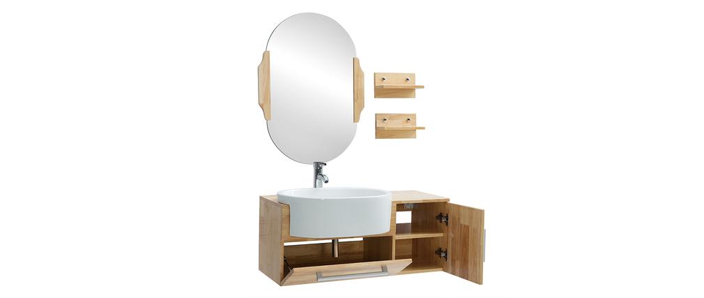 badezimmerm bel waschbecken mit waschkommode und spiegel nivan miliboo. Black Bedroom Furniture Sets. Home Design Ideas