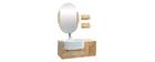 Badezimmermöbel: Waschbecken mit Waschkommode und Spiegel NIVAN