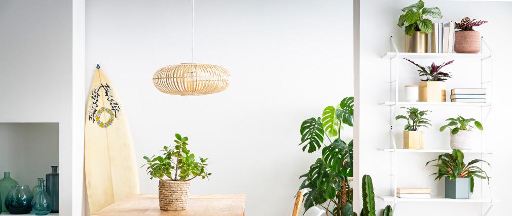 Bambus Hängeleuchte Durchmesser 60cm KANA