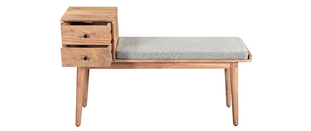 Bank für den Eingangsbereich mit 2 Schubladen aus Akazienholz ALTY