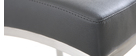 Barhocker Aluminium gebürstet PU Dunkelgrau 66 cm OLLY