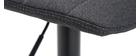 Barhocker aus dunkelgrauem Stoff und Metall, höhenverstellbar ( 2er-Set) SAURY