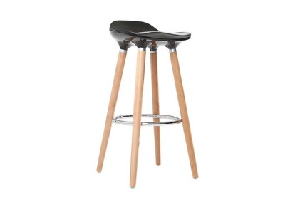 Barhocker Design Schwarz skandinavisch GILDA