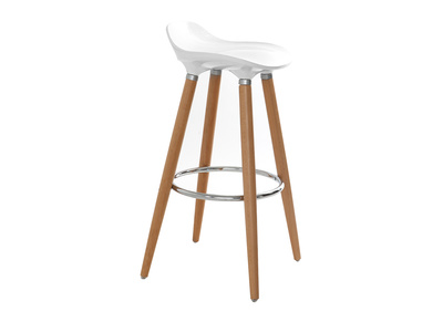 Barhocker Design skandinavisch GILDA Schwarz