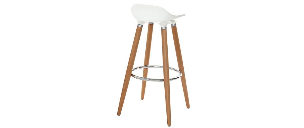 Barhocker Design skandinavisch GILDA Weiß
