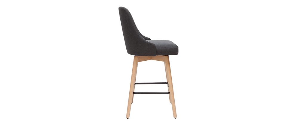 Barhocker HASTA skandinavisches Design dunkelgrauer Bezug H65 cm (2er-Set)