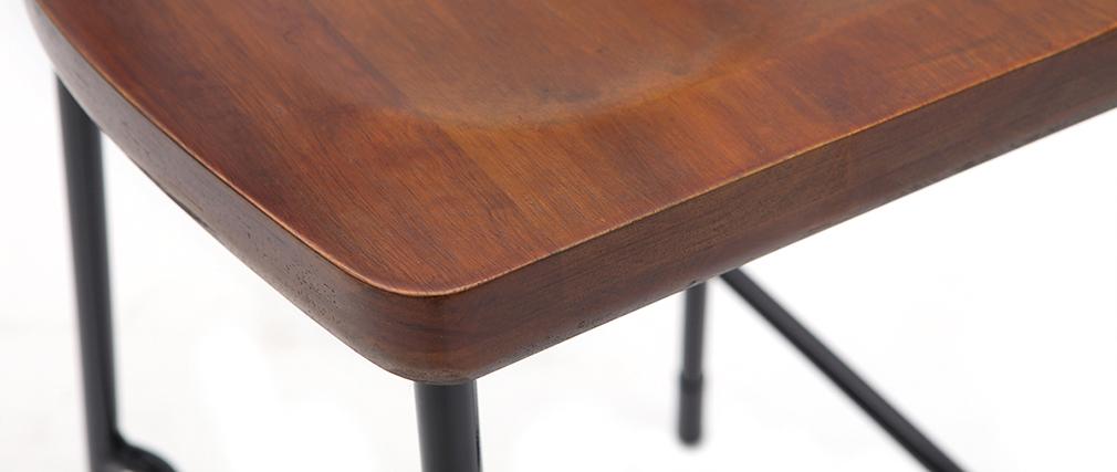 Barhocker Industrie-Look Metall und schwarzes Holz 75 cm (2er-Set) OUDIN