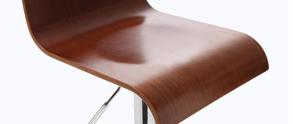 Barhocker / Küchenhocker aus Holz SURF v2 Farbe Wenge