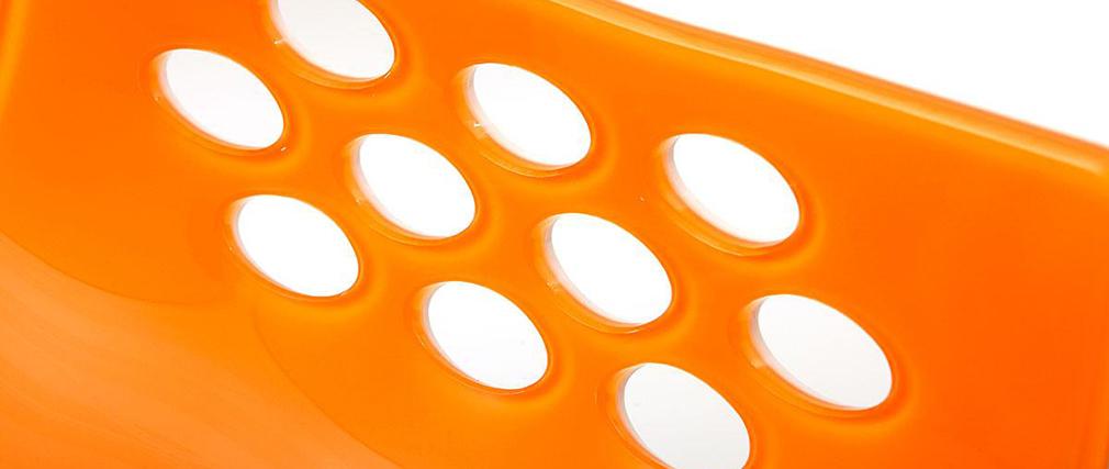 Barhocker magellan design zweifarbig orange und weiss for Barhocker orange