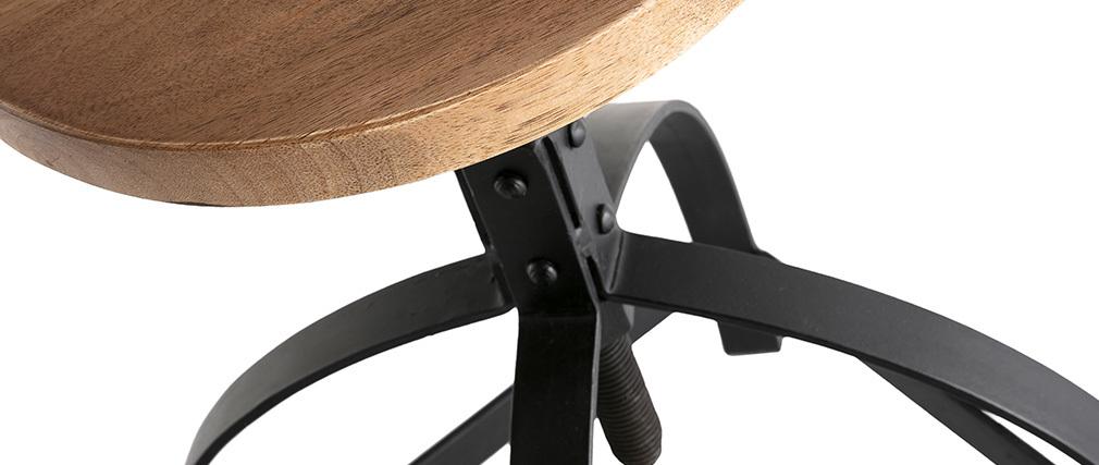Barhocker Metall und Holz H 65 cm INDUSTRIA