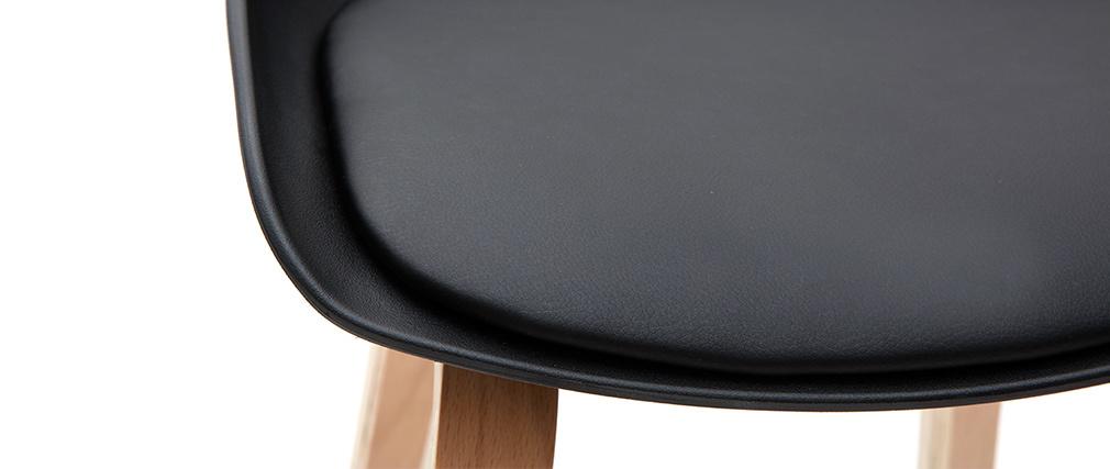 Barhocker schwarz Holzbeine 75 cm (2er-Set) LINO