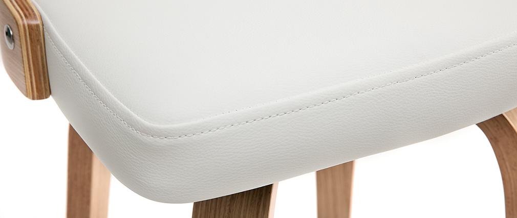 Barhocker skandinavisch Weiß helles Holz GARBO