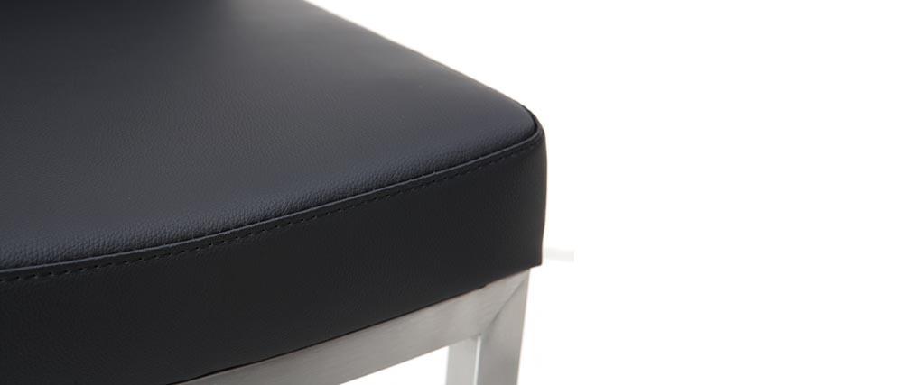 Barhocker zeitgenössisches Design - Metall und PU Schwarz - KYLE