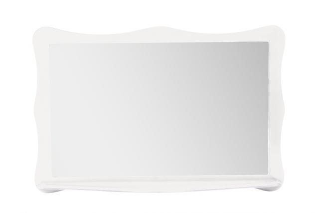 barock spiegel mit regal louisa weiss miliboo. Black Bedroom Furniture Sets. Home Design Ideas