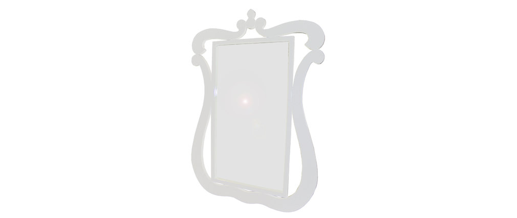 Barocker Spiegel Louisa Weiß