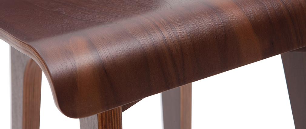 Barstuhl aus dunklem Holz 65 cm BALTIK