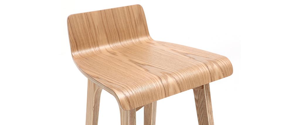 Barstuhl aus Holz - 65 cm - skandinavisch - BALTIK