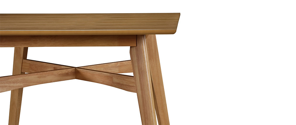 Bartisch quadratisch Holz hell LEENA