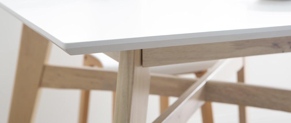 Bartisch quadratisch Holz und Weiß LEENA