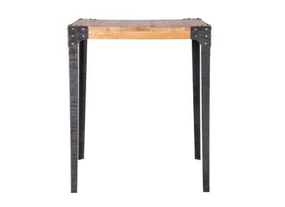 Bartisch quadratisch Industrie-Design Holz und Metall MADISON