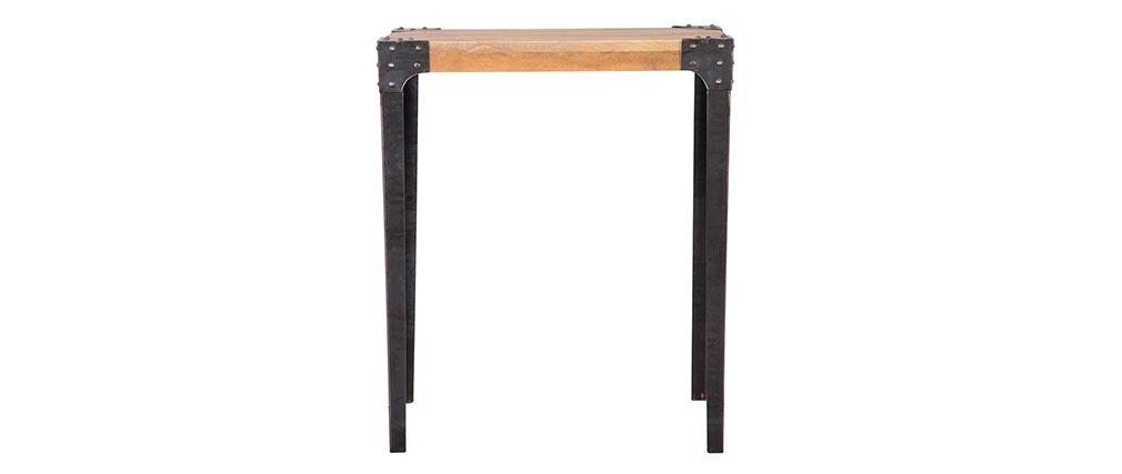 Bartisch rechteckig Industrie-Design Holz und Metall MADISON