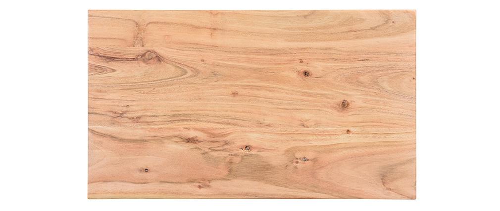 Beistelltisch aus Akazienholz und Metall schwarz BREAK