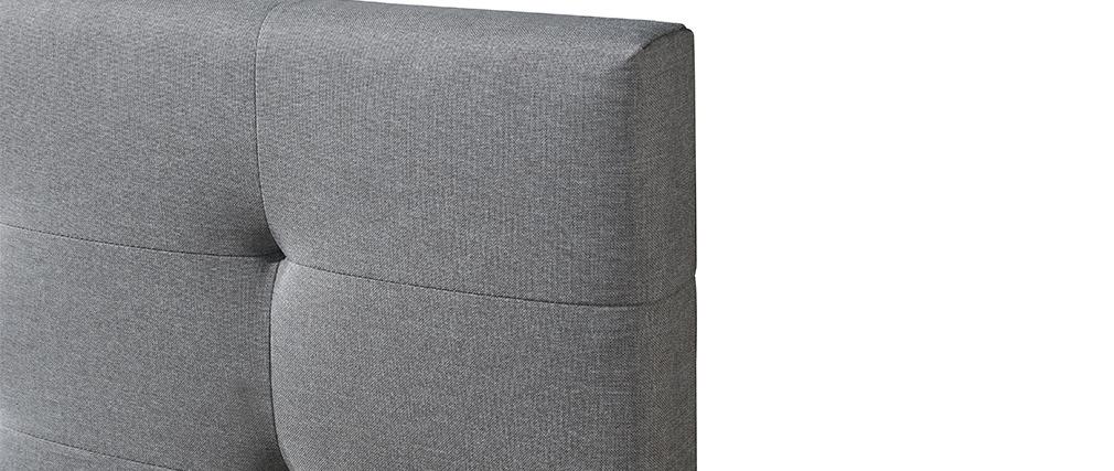 Bett 160 x 200 Stoff Grau gepolstert MARQUISE