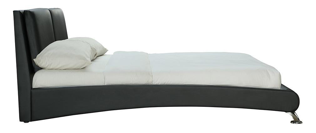 Bett 2 Personen 160 cm x 200 cm Schwarz JOAO
