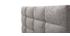 Bett für Erwachsene 140 x 200 cm Hellgrau EMERY